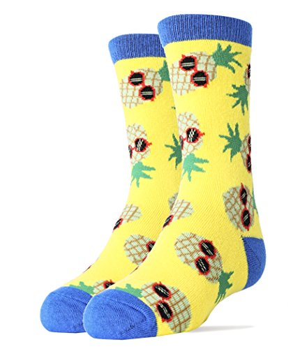 Oooh Yeah Socks ! Youths Crew Pineapple (One Youth Socks)