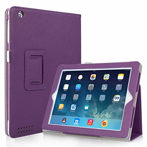 iPad 2 / iPad 3 / iPad 4 Case, GARUNK Slim-Fit Matte Leather