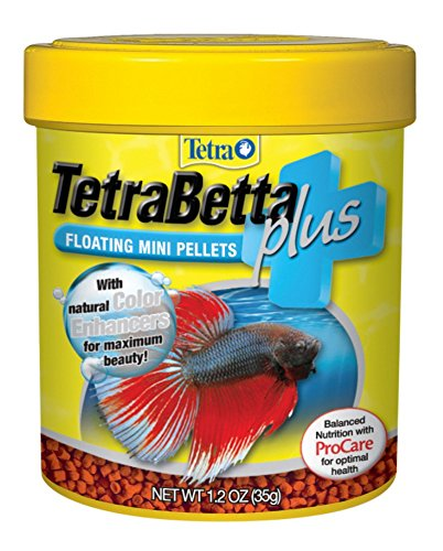 Tetra 77256 TetraBetta PLUS Mini Pellets, 1.2-Ounce, 85-ml