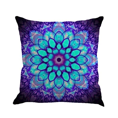 Pillow Case, AmyDong Bohemian Geometry Cotton Linen Pillow Case( For sofa, bed,car and home decoration) (1D)