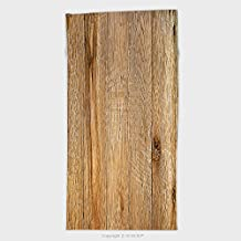 27.5W x 55.1L Inches Cotton Microfiber Bathroom Towels Ultra Soft Hotel SPA Beach Pool Bath Towel Old Weathered Wood Surface With Long Boards Lined Up Wooden Planks On A Wall Or Floor With Grain 559
