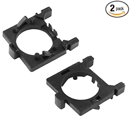 HUIQIAODS H7 LED Headlight Bulb Retainers Holder Adapter Clip for Ford  Focus Fiesta Mondeo Low Beam Light 2PCS