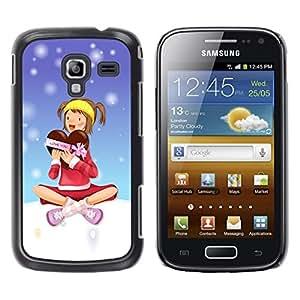 Caucho caso de Shell duro de la cubierta de accesorios de protección BY RAYDREAMMM - Samsung Galaxy Ace 2 I8160 Ace II X S7560M - Christmas Girl