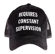 "Snark City's Funny Trucker Cap Hat Adjustable ""Requires Constant Supervision"""