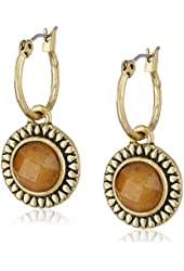 Lucky Brand Carnelian Drop Earrings