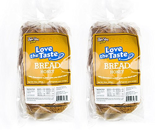 ThinSlim Foods Love-The-Taste 50 Calorie, 1g Net Carb Low Carb Bread, 2pack (Honey) 1g Honey