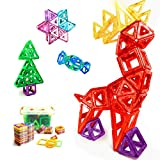 momcare Magnetic Blocks 64 Piece of Magnetic Building Blocks Set for Kids, Magnetic Tiles, Educational Toys for Toddler Boys Girls Aged 3 and Older