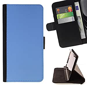 DEVIL CASE - FOR Sony Xperia Z3 D6603 - Simple Blue - Style PU Leather Case Wallet Flip Stand Flap Closure Cover