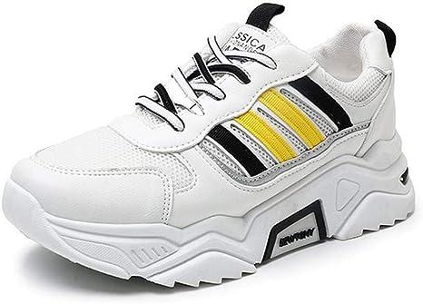 SHOES-HY Zapatillas de Deporte para Mujer Zapatillas de Running para Caminar atléticas de Malla Transpirable ultraligeras,Amarillo,37: Amazon.es: Jardín
