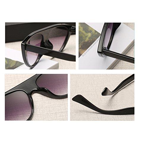 Cenizas tendencia gafas sol Aiweijia gafas gato mujer calle de Negro personalidad moda sol de moda ojos PqvRq6