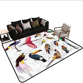 Image of Home and Kitchen Birds,Floor Mat Entrance Doormat 80'x 120' Bird Set Poly Design Carpet mat