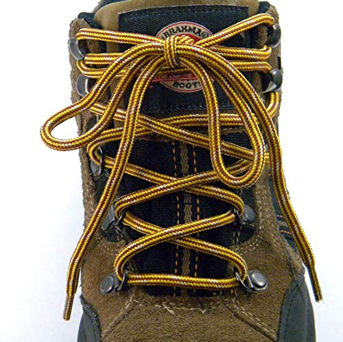36 Inch (91 cm) Yellow Gold-Brown Kevlar proTOUGH(tm) Reinforced Heavy Duty Boot Laces Shoelaces - (2 Pair Pack)