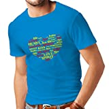 ziggy marley organics - lepni.me T Shirts For Men I Love You Quotes,Valentine Day Gift (Small Blue Multi Color)