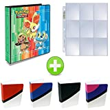 Pokemon 3-Ring Binder with Mini Binder Album Set of 4 Poke Ball Great Ball Ultra Ball and Master Ball + 25 9-Pocket Pages (XY)