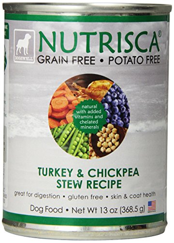 Dogswell 842552 12-Pack Nutrisca Turkey And Chickpea Can Food For Pets, 13-Ounce