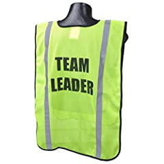 Don't waste time waiting for custom printing! This pre-printed polyester mesh vest has already been printed with the word team leader and is ready to go out the door.