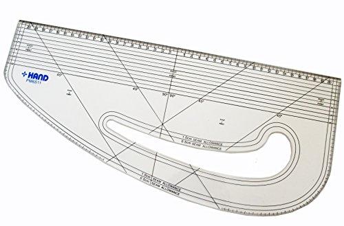 - HAND Pattern Marking Ruler- Hard Plastic