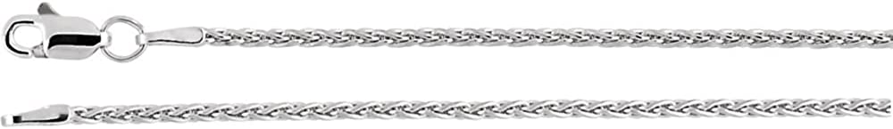 Jewels By Lux 14K White Gold 1.5mm Wheat Chain