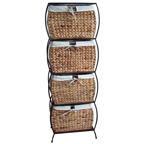 PTC Home & Garden Nassau Four Drawer File Cabinet (Rattan Cabinet Filing)
