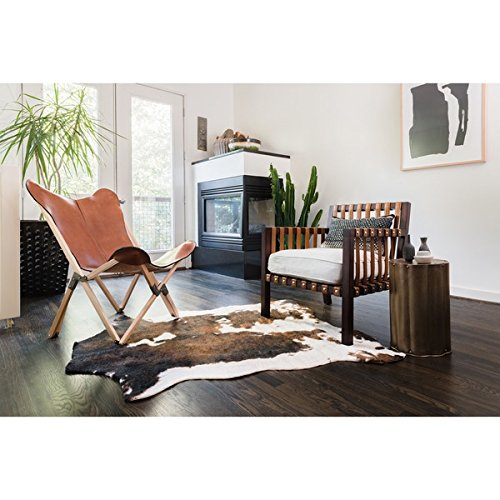 Alexander Home Machine-Made Power-Loomed Synthetic Beige/ Brown Rawhide Rug (3'10 x 5')