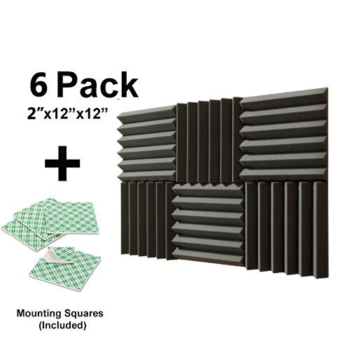 6-pk-2x12x12-soundproofing-foam-acoustic-tiles-studio-foam-sound-wedges-with-12-double-sided-adhesiv