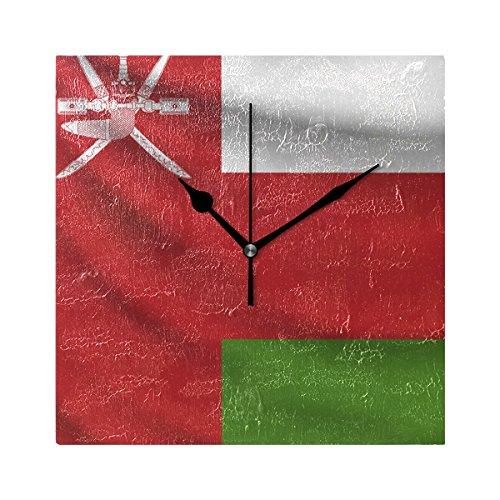 Oman Flag 7.87 Inch Decorative Wall Clock, Quartz Battery Op