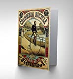 NEW PENNY FARTHING BICYCLE BOSTON USA ADVERTISING RETRO GREETINGS CARD CP1228