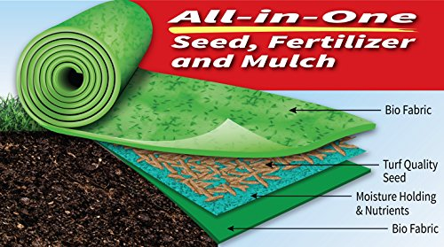 Grotrax''Big Roll'' (100 Square Foot Roll) Grass Seed roll by Grotrax (Image #1)