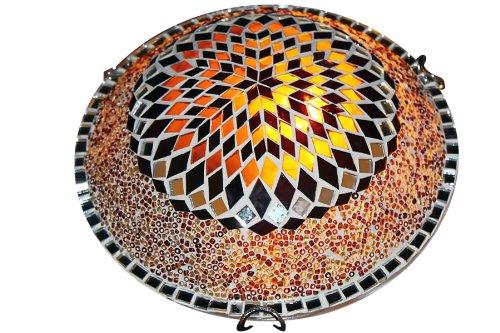 ON SALE Art-Win Lighting W10030 Brown Handmade Turkish Mosaic Ceiling Lamp (Sale For Mosaics)