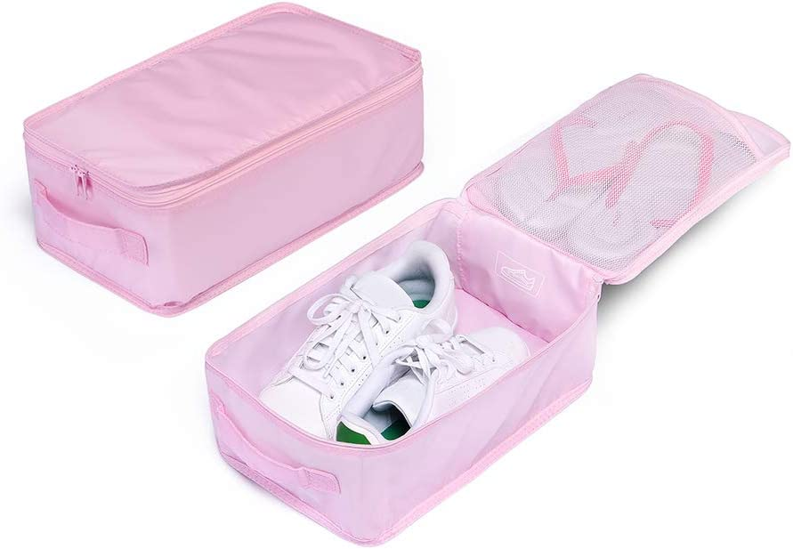 Useful Travel Shoe Bag Protector Container Three Layers Shoe Box Storage Pouch