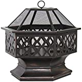 LTL Shop Fire Pit Outdoor Home Garden Backyard Firepit Bowl Fireplace