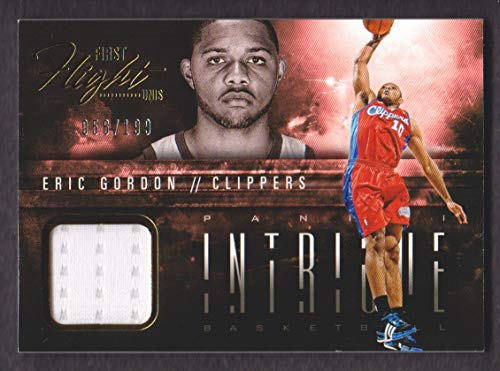Gordon Eric Clippers (2013-14 Panini Intrigue Basketball First Flight Unis Jersey #1 Eric Gordon 056/199 Clippers)