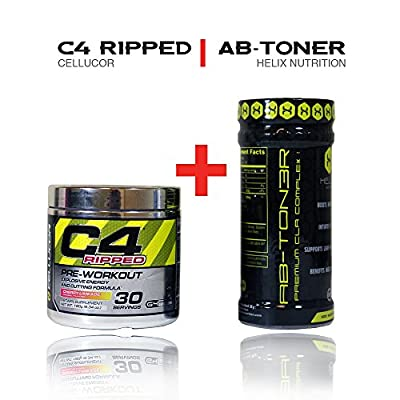 Cellucor C4 Ripped Preworkout Thermogenic Powder 30 Servings, Cherry Limeade + Abton3r Stimulant-free Metabolic Activating Formula Designed to Help Target Abdominal Fat and Lower Cholesterol.