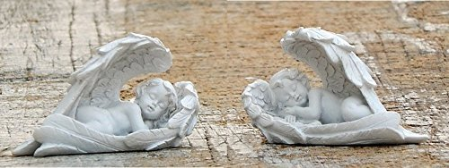 2 Angel Statues - Loves Child Angel Cupid Home Decor Cherub Statue Baby Sculpture Figurine 702816