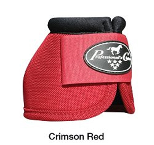 (Professional's Choice Ballistic Overreach Bell Boots Durable Nylon Outer Cover Ultra Shock Lining Color Choice (Crimson Red, Small))