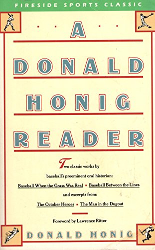 A Donald Honig reader (Fireside sports classic)