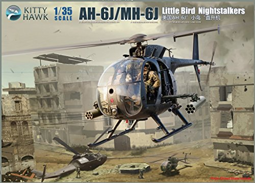 KH50003 Kitty Hawk 1/35 AH-6J/MH-6J Little Bird Nightstalkers [MODEL BUILDING KIT]