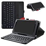 Lenovo Tab 7 Essential Bluetooth Keyboard Case,Mama Mouth Slim Stand PU Leather Cover With Romovable Bluetooth Keyboard For Lenovo Tab 7 Essential/Lenovo Tab 4 7 Essential Android Tablet,Black