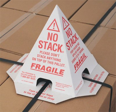 8'' x 8'' x 10'' No Stack Corrugated Cone (100 Protectors) - AB-138-9-004 by Miller Supply Inc (Image #1)
