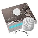 Mini Bluetooth GPS Tracker, Key Finder, Nut Find 3Anti-lost Smart Tag, Phone Wallet Bag Pet Dog Locator with App Control Bi-directional Tracking Alarm for iOS/ iPhone/ iPod/ iPad/ Android (White)