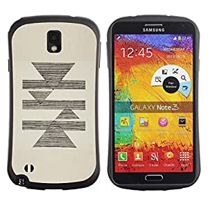 Pulsar iFace Series Tpu silicona Carcasa Funda Case para Samsung Note 3 , Abstract Pencil Sketch Triángulo Pirámide Beige""