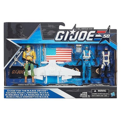 Claws Joe Gi (G.I. Joe, 50th Anniversary, Chase for the MASS Device Action Figure Set [Duke, Cobra Commander, and Cobra CLAWS Trooper], 3.75 Inches)