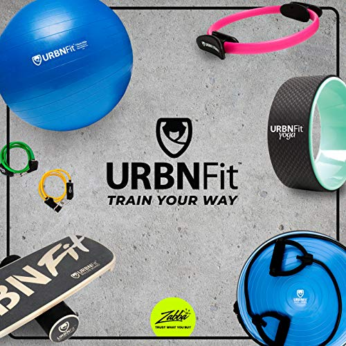 URBNFit Wooden Balance Board Trainer - Wobble Board for Surf, Hockey, & Snowboard - Balancing Board to Sculpt & Build Core Stability - Exercise Equipment w/Workout Guide