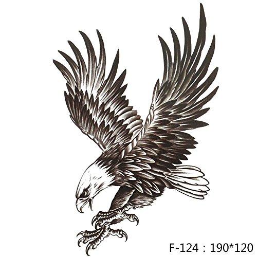 Gracefulvara Eagle Waterproof Temporary Body Art Arm Shoulder Chest Tattoo Sticker For Man Women