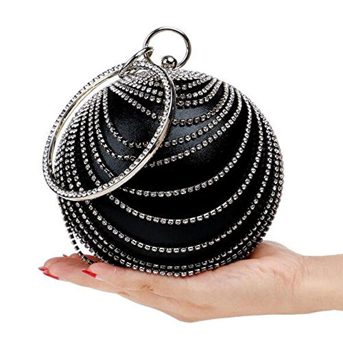 Soirée Sparkly Diamante Bag Clutch Party Wedding Nuptiale NAOMIIII black Womens Prom Ladies Shoulder CAwXxZBq