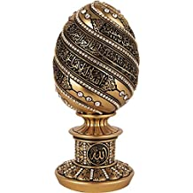 Ayatul Kursi Allah Name Color Egg Style Crystal Molded sculpture Table decor -Eid Gift