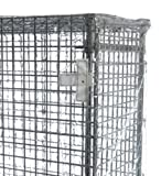 Quantum Storage Systems CC247263CVV Wire Cart Cover with Velcro Flap, 10 Gauge Vinyl, Clear, 24'' Width x 72'' Length x 63'' Height