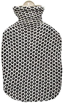 Sänger 2 Liter Wärmflasche, Wärmeflasche, Bettflasche, Wärmekissen, mit Strickbezug Wohndesign, Popcorn