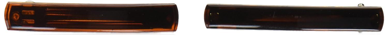 Caravan Small Gallia Bar Barrettes In Tortoise Shell or Colors Pair 600-2