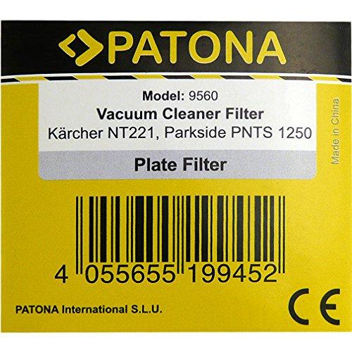 PATONA Filtro de cartucho para Kärcher NT221, Rowenta RU03, Parkside PNTS 1250 1300 1400 1500 A1 B1 B2: Amazon.es: Hogar